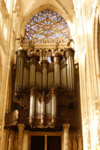 Great Cavaillé-Coll organ of St. Ouen abbey church in Rouen