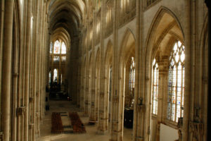 St. Ouen Abbey Church in Rouen as seen from the inside